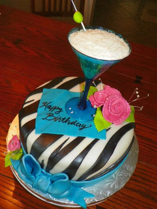 Birthday Cake Drink Plumeria Cake Studio Martini Birthday Cake