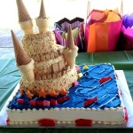 Birthday Cake Flavors Sand Castle Birthday Cake Crushed Nilla Wafers For Sand Starbursts