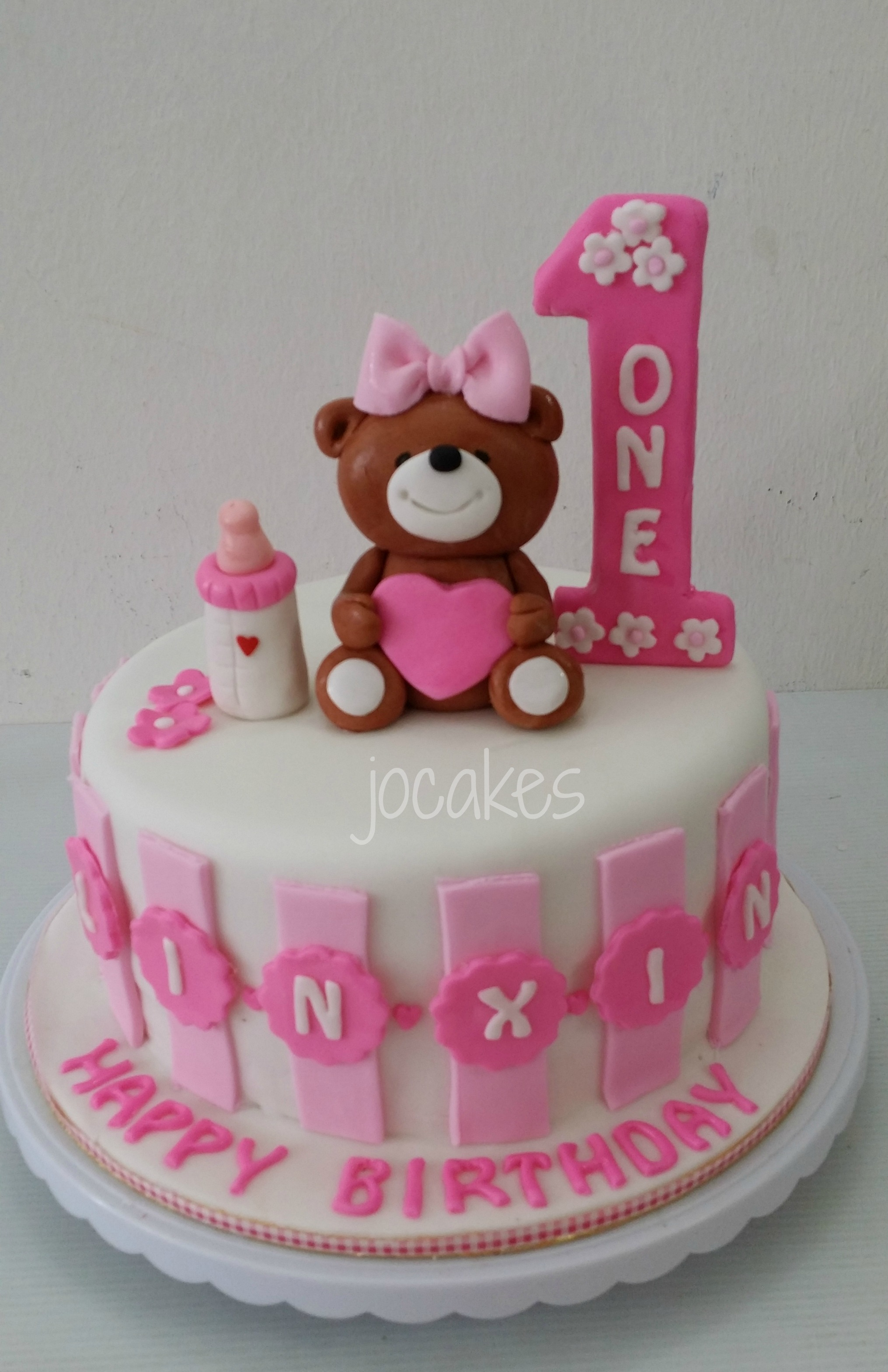 Birthday Cake For 1 Year Old 10 One Boy Cakes Teddy Bear With Topper Photo