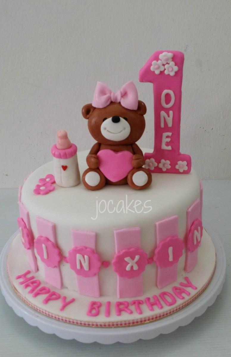 Birthday Cake For 1 Year Old 10 One Boy Cakes Teddy Bear
