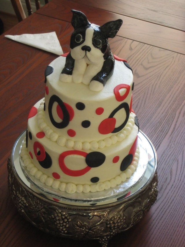 Birthday Cake For Brother For The Love Of Cake Brothers Boston Terrier Birthday Cake