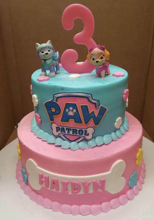 Birthday Cake For Girl Calumet Bakery Girls Paw Patrol Cake Girls Decorated Cakes Paw