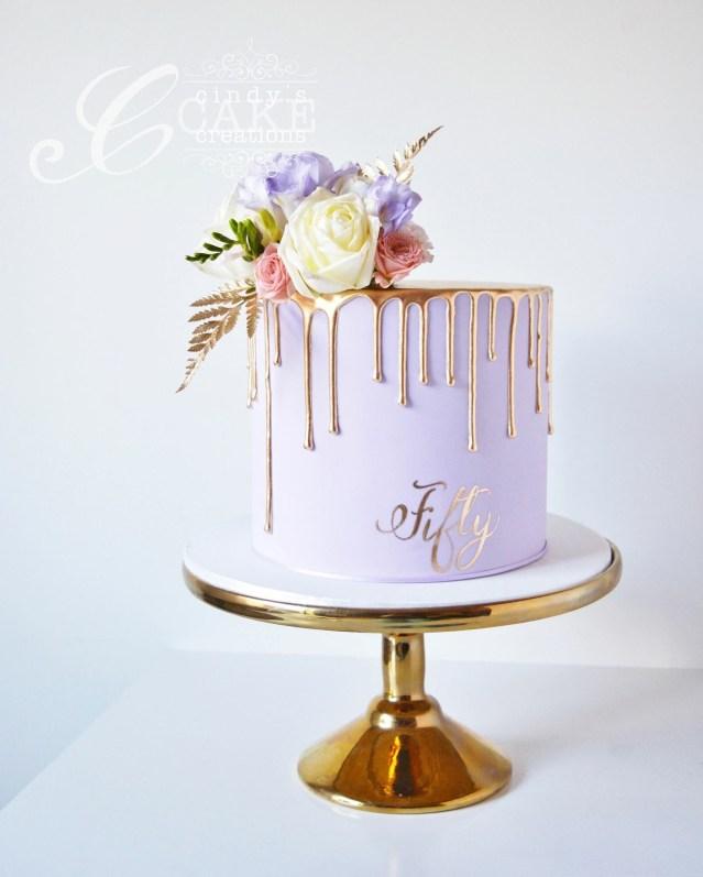 Birthday Cake For Her Gold Drip Cake 50th Birthday Cake Cakesthetics Pinterest