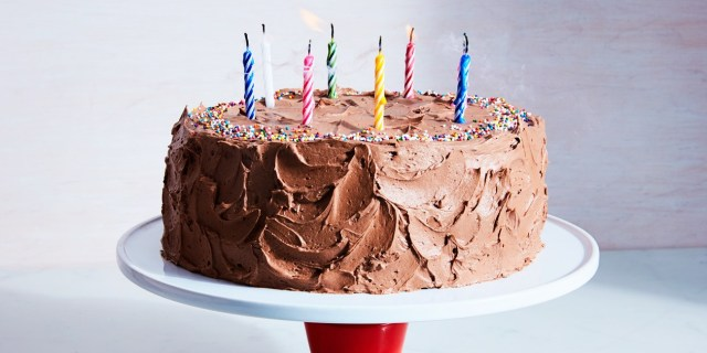 Birthday Cake Frosting Classic Yellow Cake With Chocolate Frosting Recipe Epicurious