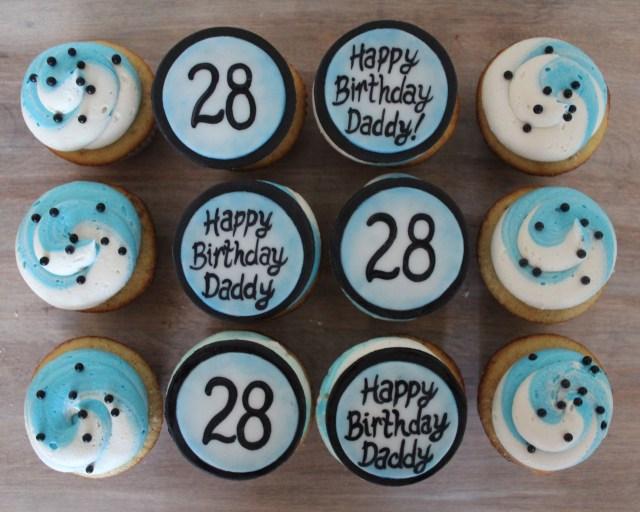 Birthday Cake Ideas For Men Cupcakes Him Guy Boy Blue White And Black