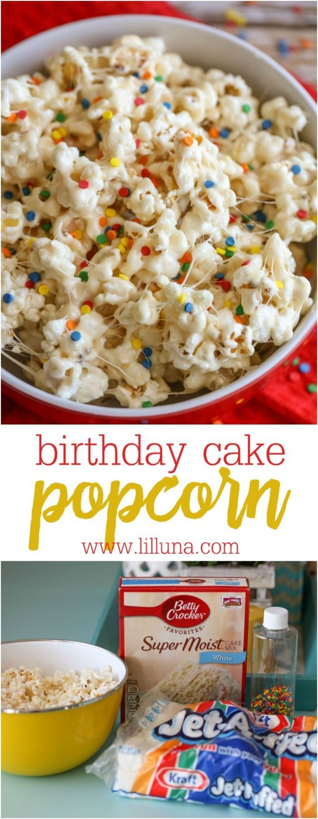Birthday Cake Popcorn Birthday Cake Popcorn Rezept Dezignparty Pinterest Desserts