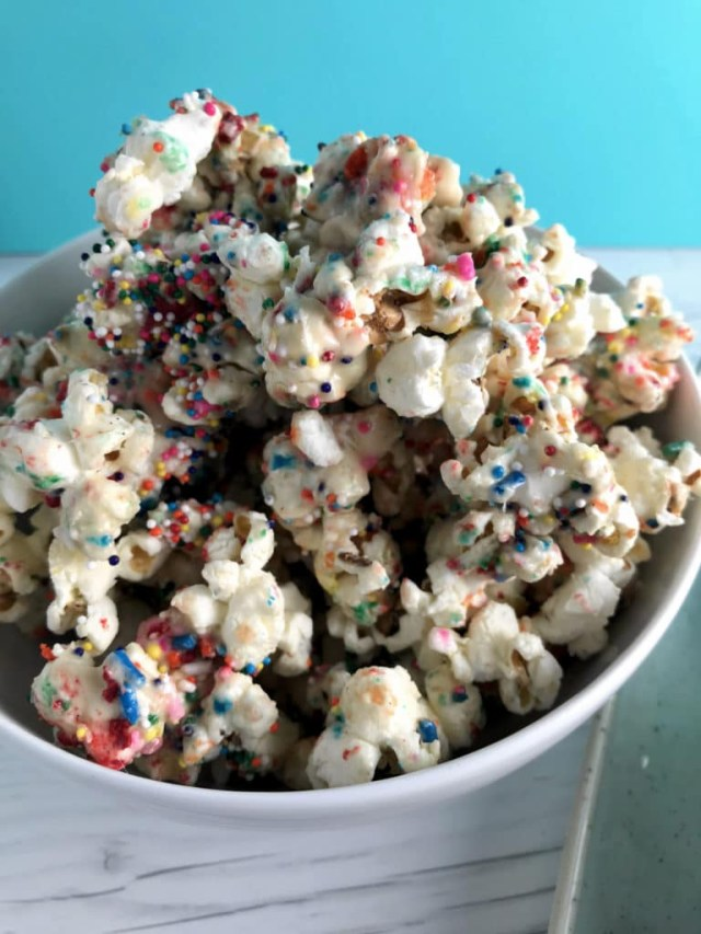 Birthday Cake Popcorn Birthday Cake Popcorn Sprinkles Stacey