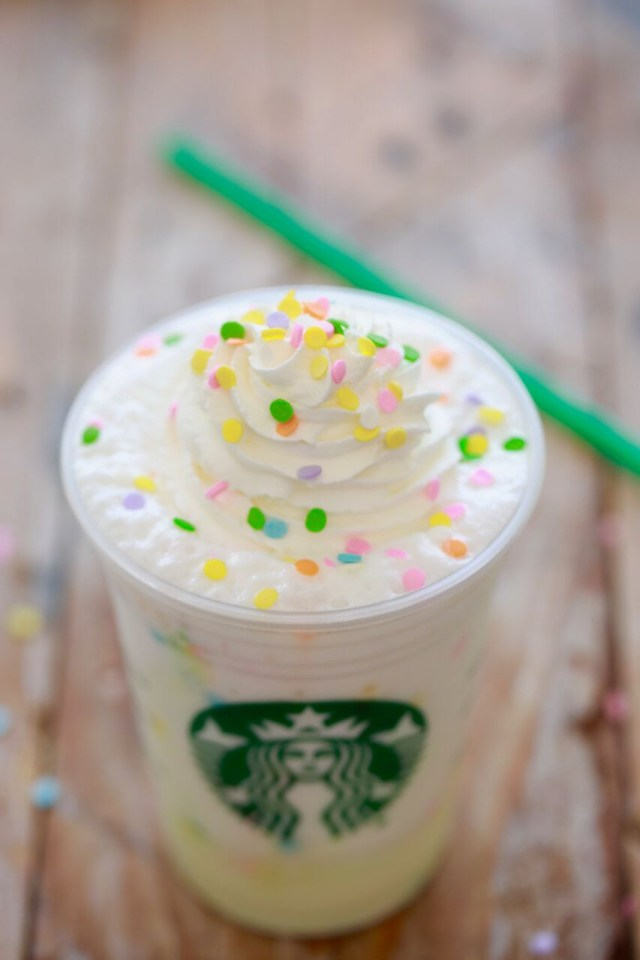 Birthday Cake Starbucks Starbucks Birthday Cake Frappuccino Secret Menu Recipe Drinks