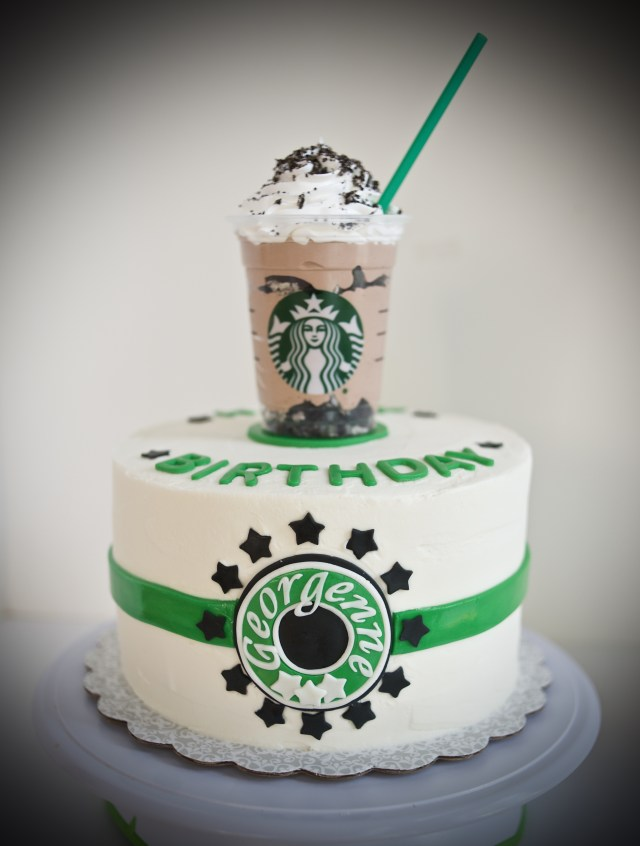 Birthday Cake Starbucks Starbucks Themed Cake Gray Barn Baking