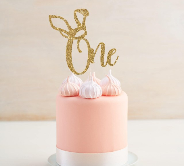 Birthday Cake Toppers For Adults Ein Cake Topper Mit Hasenohren Ostern Birthday Cake Topper Etsy