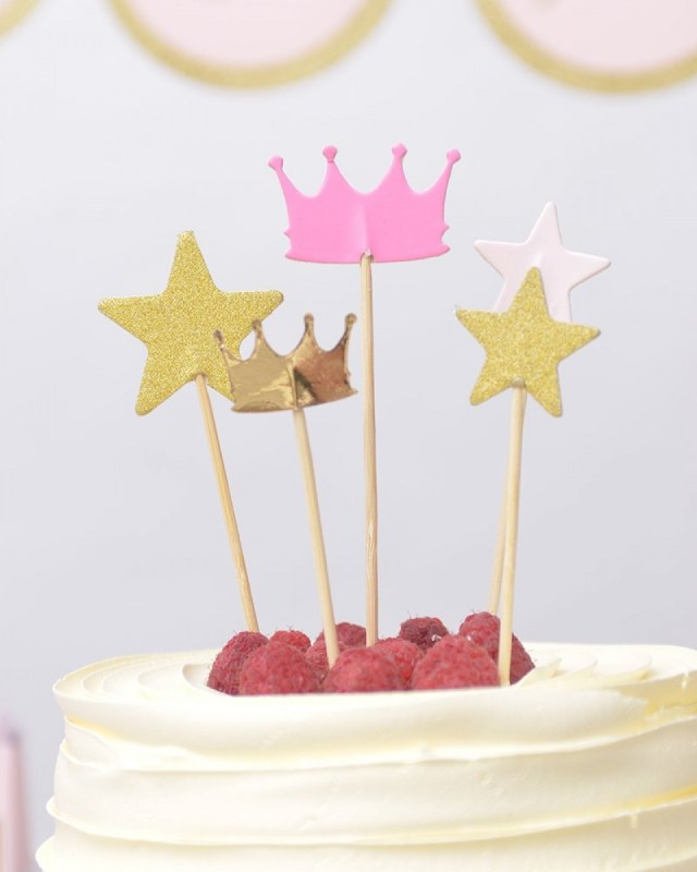 Birthday Cake Toppers For Adults Princess Party Cake Topper Set Gartner Studios Roobee Mara Mi