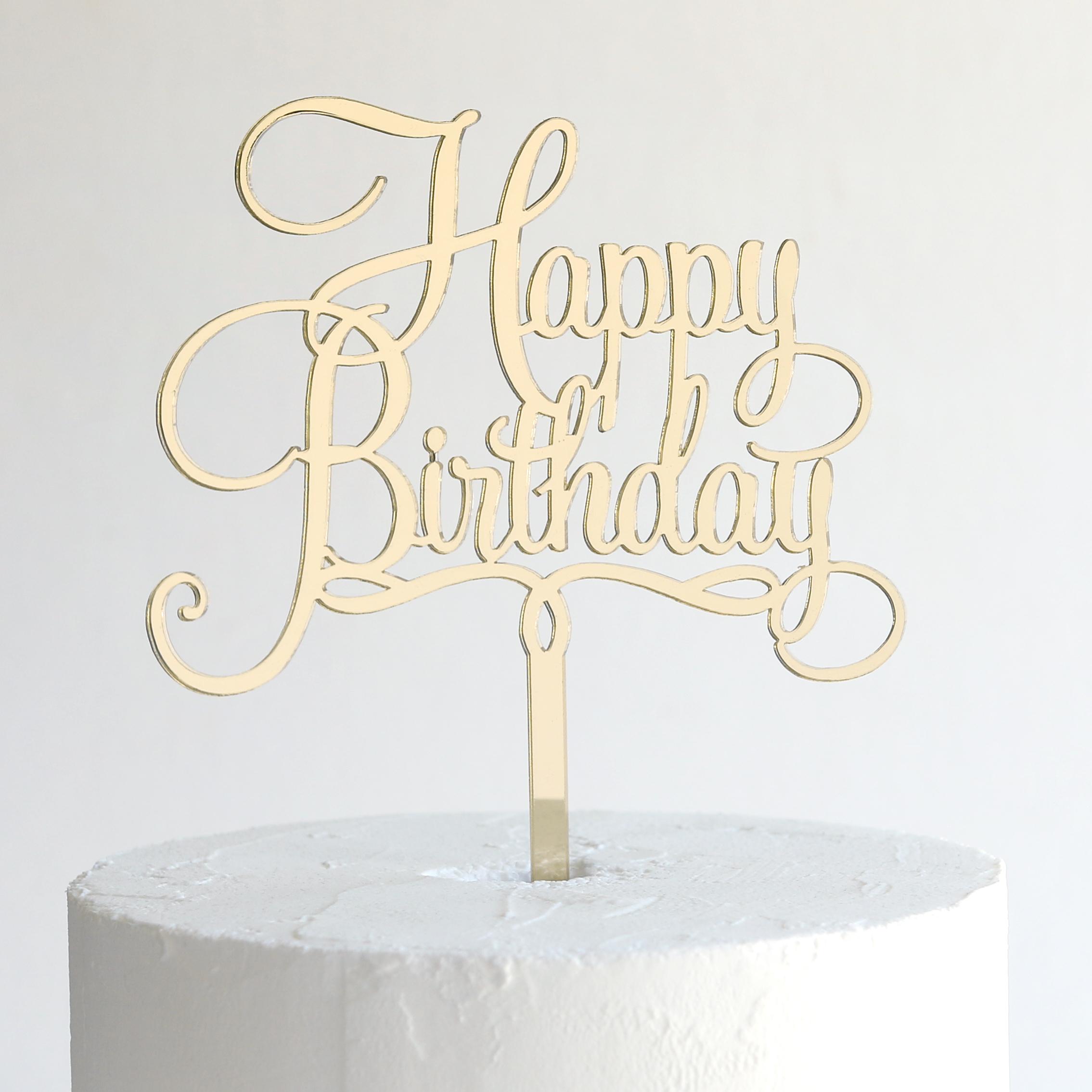 Birthday Cake Toppers Happy Birthday Cake Topper Sandra Dillon Design