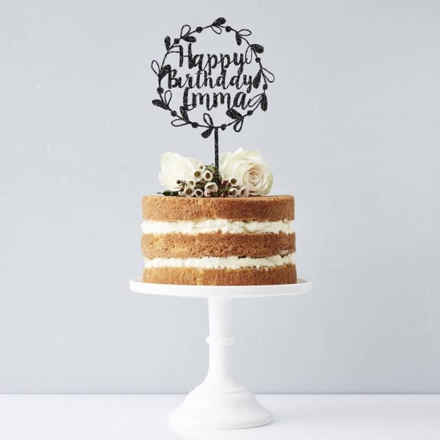Birthday Cake Toppers Personalised Floral Birthday Cake Topper Sophia Victoria Joy