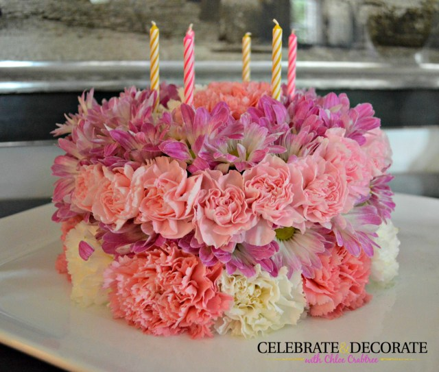 Birthday Cake With Flowers How To Make A Floral Birthday Cake Celebrate Decorate