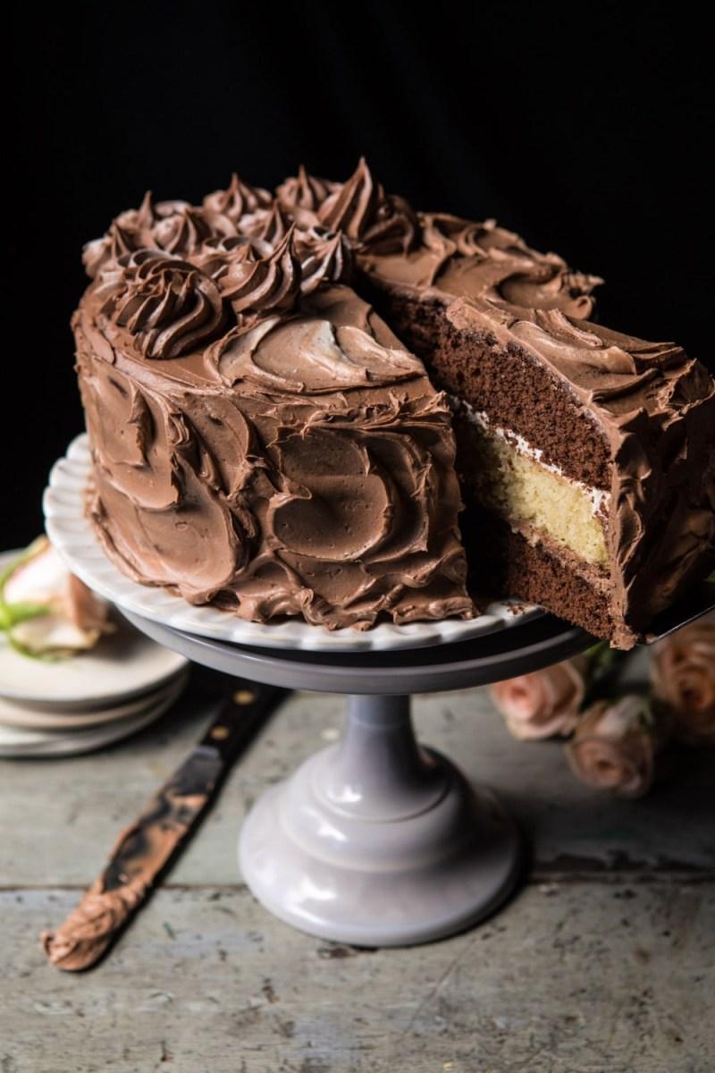 Birthday Cakes Better Together Chocolate Vanilla Birthday Cake Half Baked Harvest