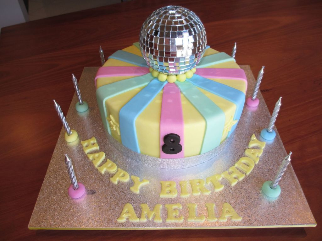 Birthday Cakes For 8 Years Old Girl Chocolate Mud With Chocolate Ganache Disco Girls 8 Year Old Birthday