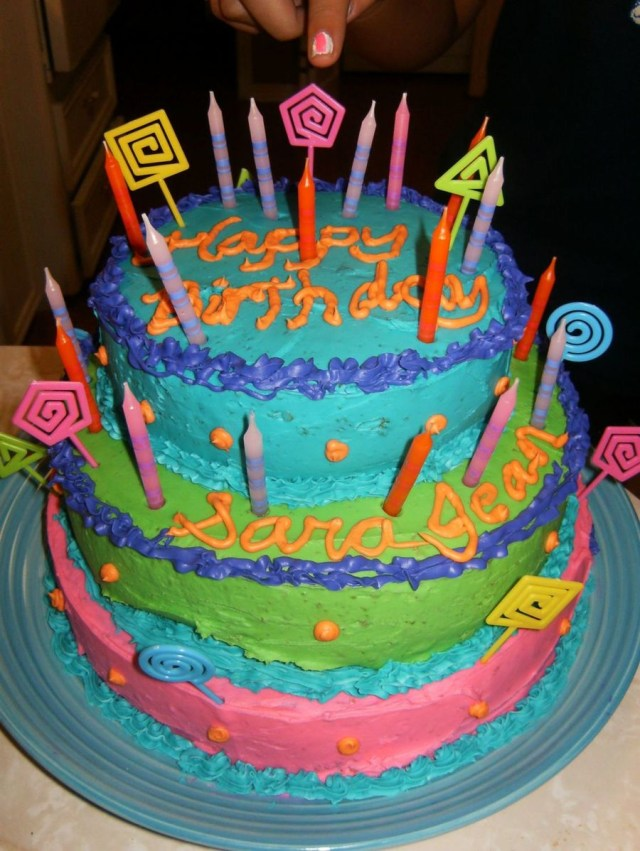 Birthday Cakes For Teenage Girl Colorful Teenage Girls Birthday Cake Cakecentral