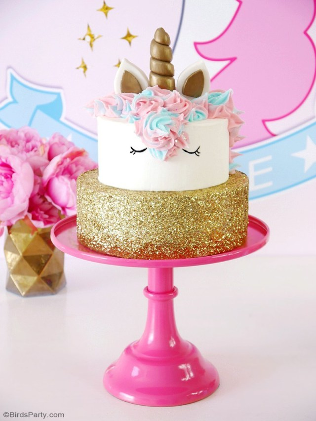 Birthday Party Cakes How To Make A Unicorn Birthday Cake Party Ideas Party Printables