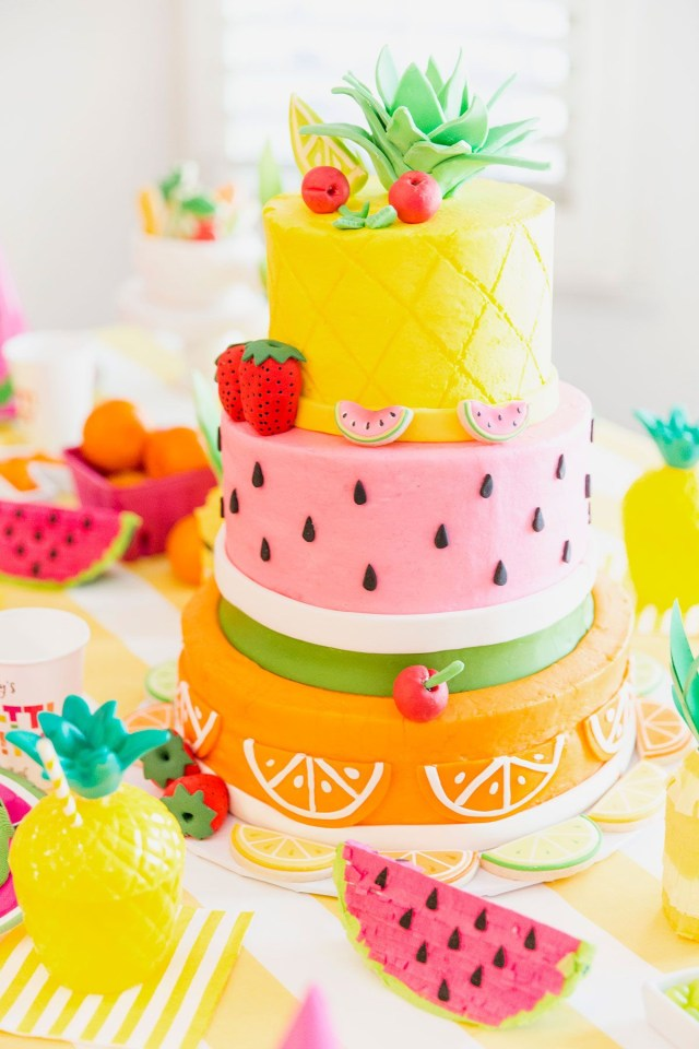 Birthday Party Cakes Two Tti Fruity Birthday Party Blakely Turns 2 Themed Birthday