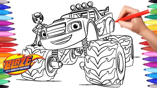 Blaze Coloring Pages Blaze And The Monster Machines Coloring Pages Coloring Aj And