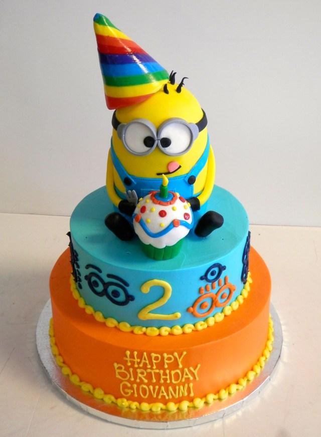 Boy Birthday Cakes 2 Year Old Birthday Cake Despicableme Minions Boys Birthday