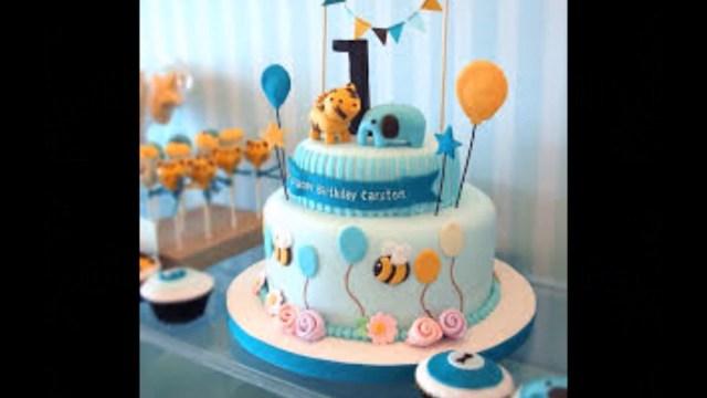 Boy Birthday Cakes Ba Boy 1st Birthday Cake Photos Youtube