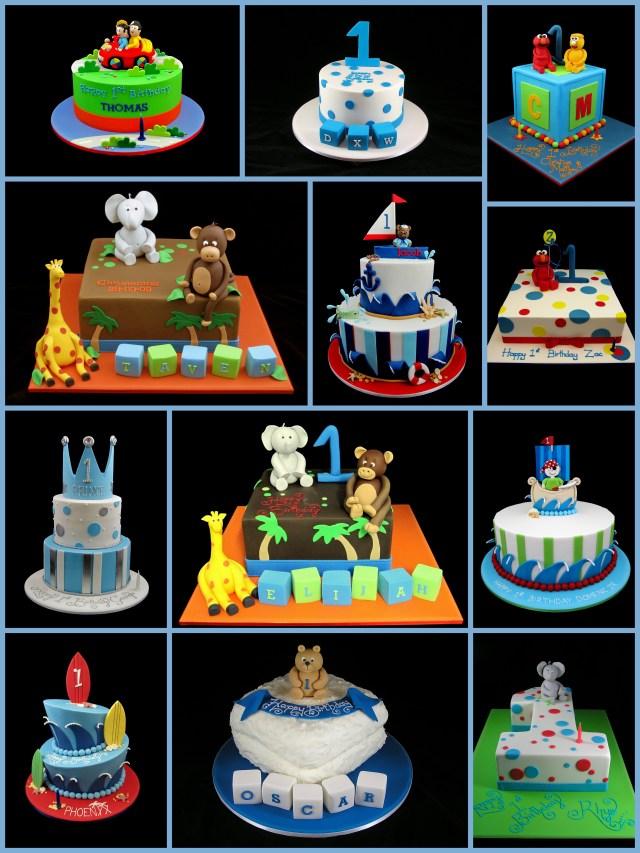 Boys Birthday Cakes 1st Birthday Cake For Boys Inspired Michelle