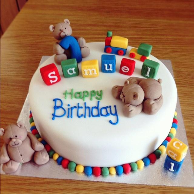 Boys Birthday Cakes First Birthday Cake For A Ba Boy Protoblogr Design 1st