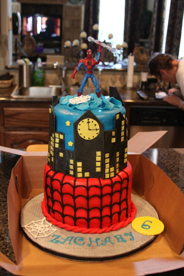 Boys Birthday Cakes Spiderman Cake For A Sweet 6 Year Old Boy Cake Sensations