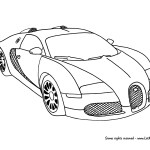 Bugatti Coloring Pages Bugatti Veyron Supercar Coloring Page Letmecolor