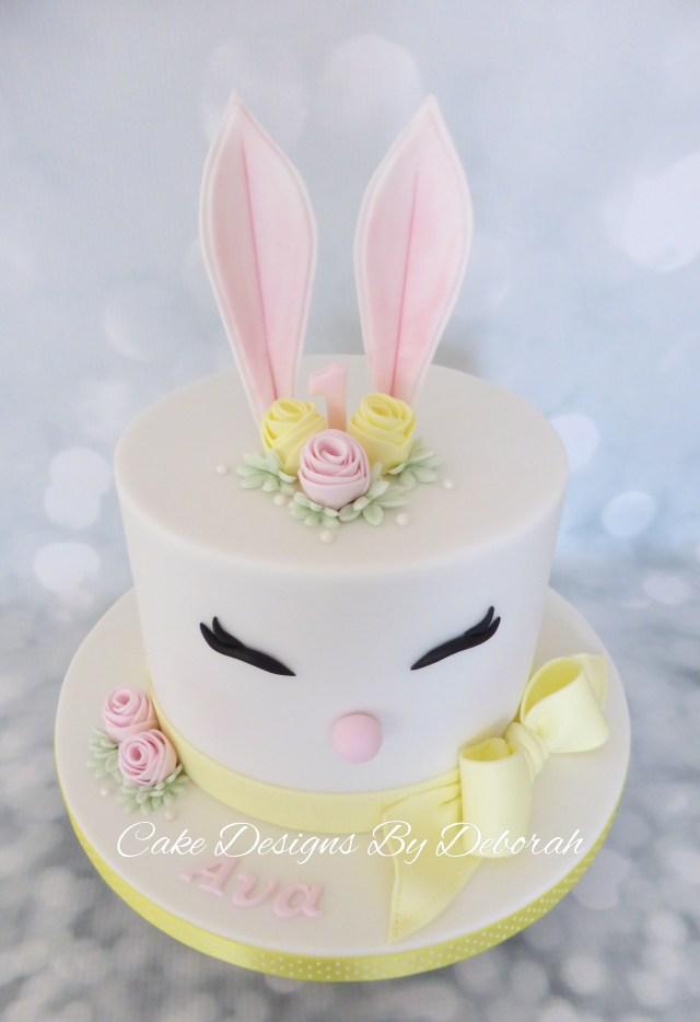 Bunny Birthday Cake Easter Bunny 1st Birthday Cake Cake Designs Deborah Torta