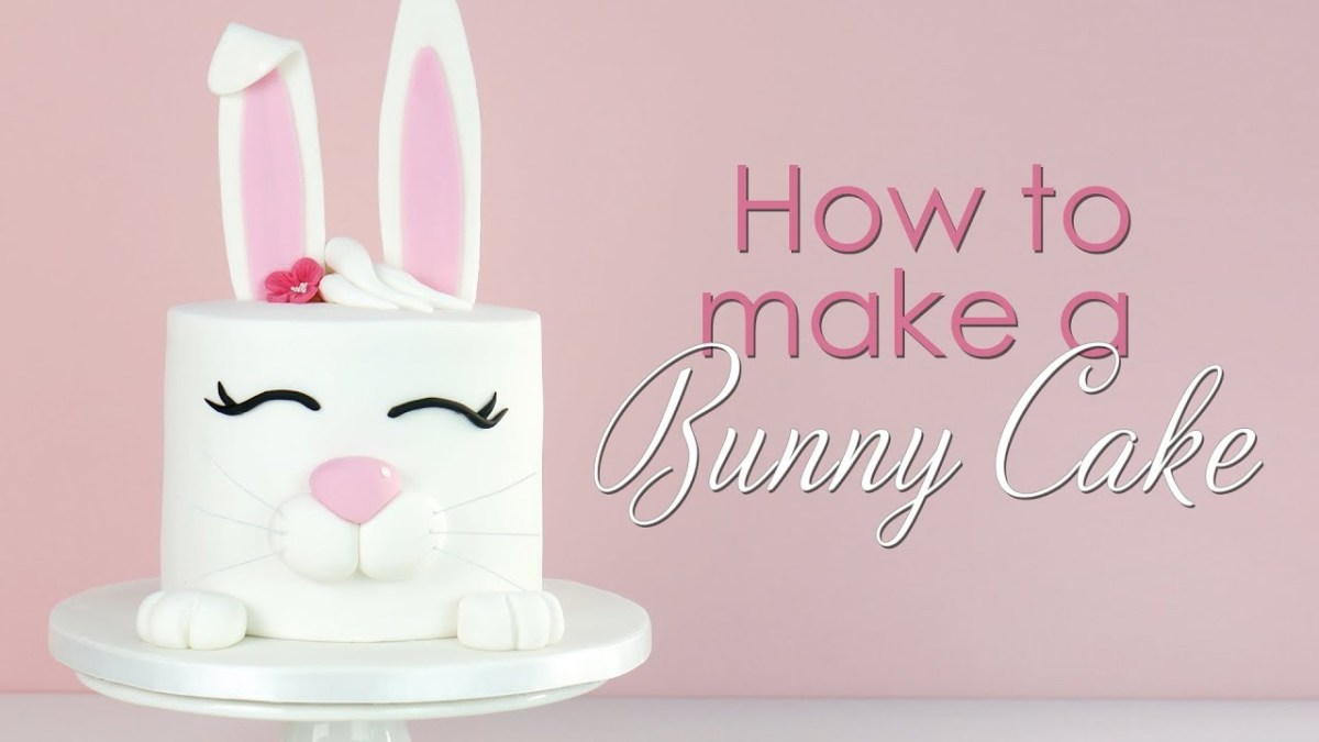 Bunny Birthday Cake How To Make A Bunny Rabbit Cake Tutorial Youtube