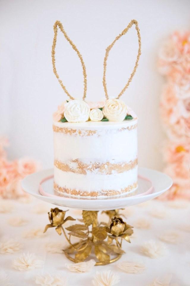 Bunny Birthday Cake Some Bunny Is One Siennas 1st Birthday Design Florals