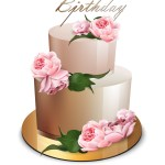 Cake Happy Birthday Happy Birthday Cake Realistic Anniversary Vector Image