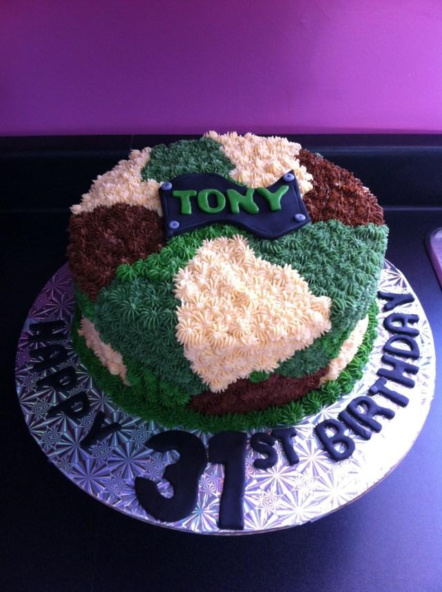 Camo Birthday Cake Camo Birthday Cake Top Tier Cakes Moncton