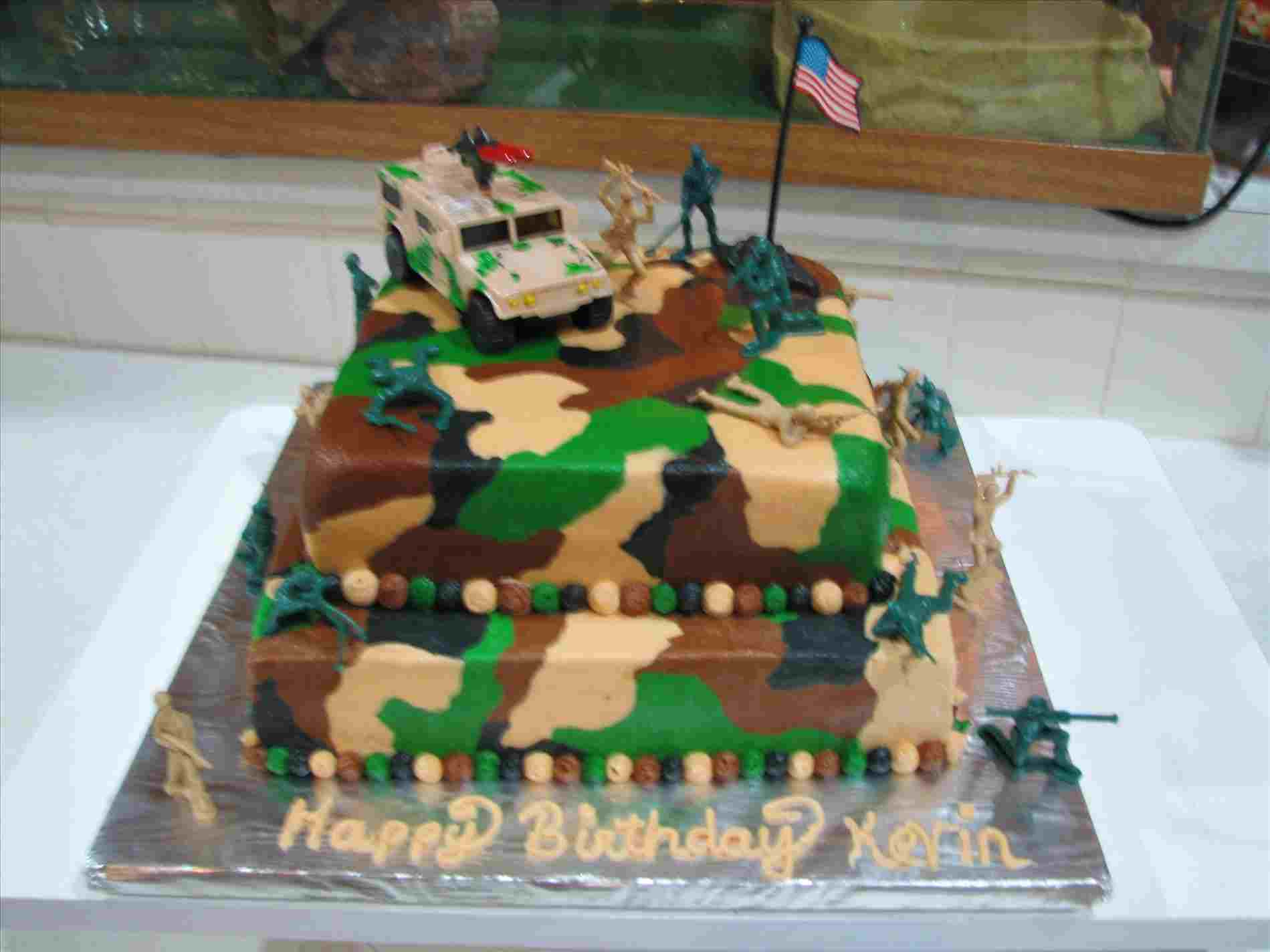 Camo Birthday Cake For Yr Old Who Loves Anything Rhcom Theme Army