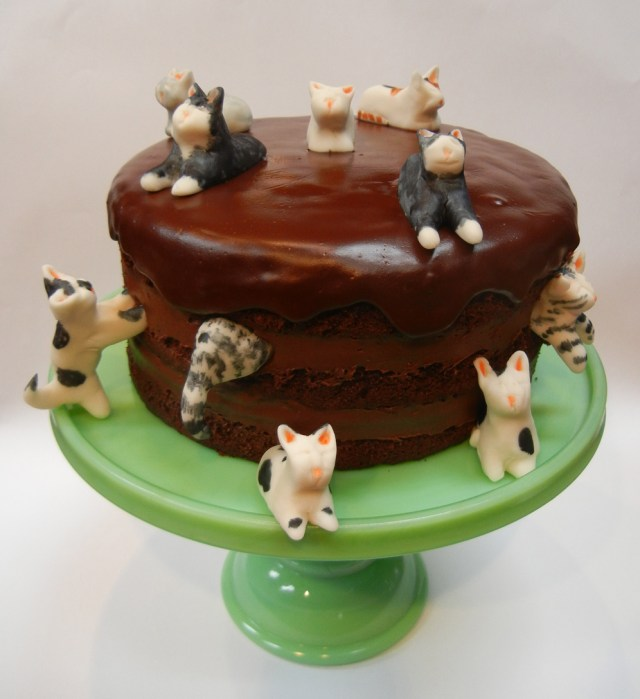 Cat Cakes For Birthdays Birthday Cakes C 085ilhouette Cake For Awesome Cats Melbourne Pets
