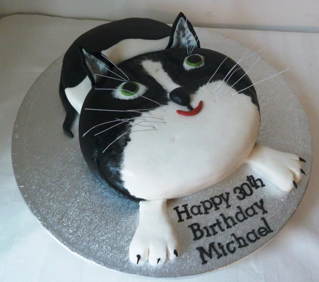 Cat Cakes For Birthdays Cat Birthday Cake Wedding Birthday Cakes From Maureens Kitchen