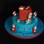 Cat In The Hat Birthday Cake Cat In The Hat Birthday Cake Was Asked To Make A Dr Seuss Flickr