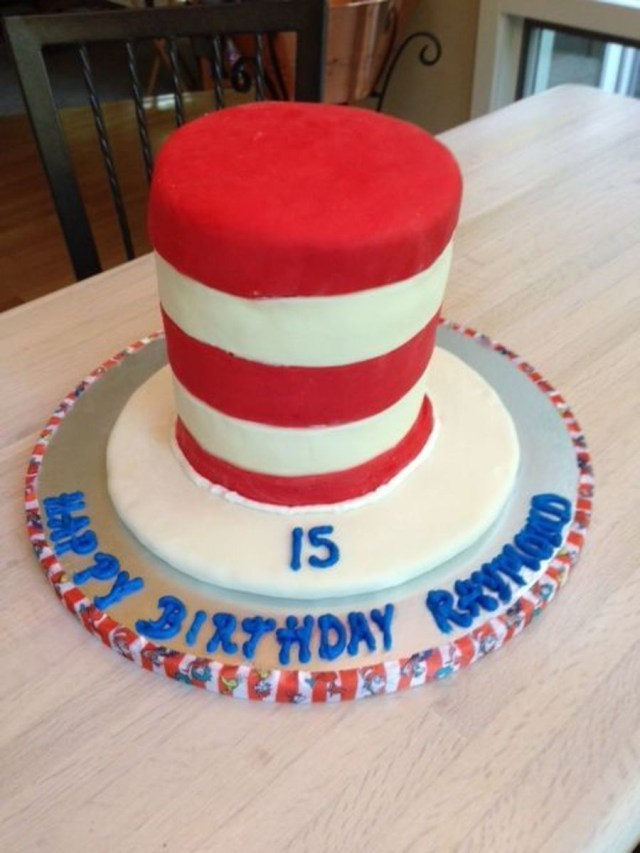 Cat In The Hat Birthday Cake Seussical Cat In The Hat Birthday Cake Cakecentral