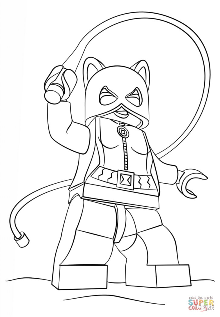 Inspiration Image of Catwoman Coloring Pages