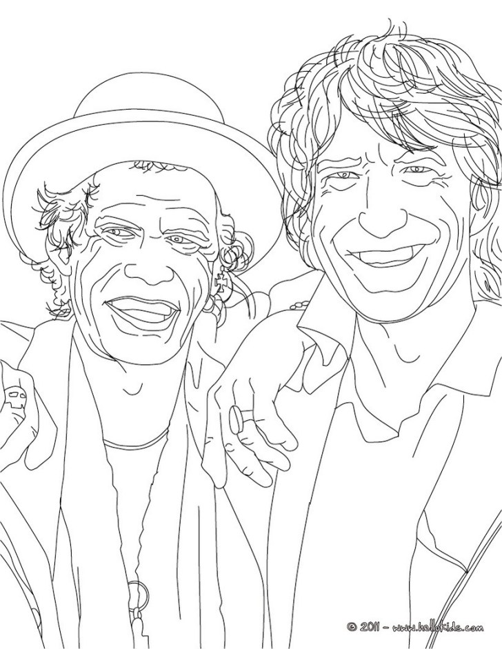 Beautiful Image of Celebrity Coloring Pages