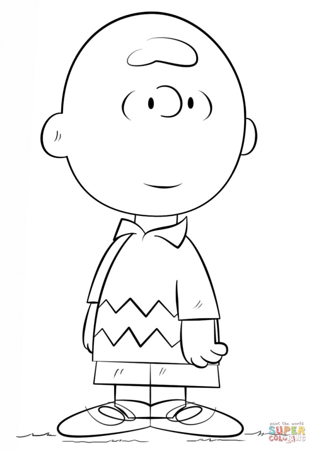 Charlie Brown Coloring Pages Charlie Brown Coloring Page Free Printable Coloring Pages