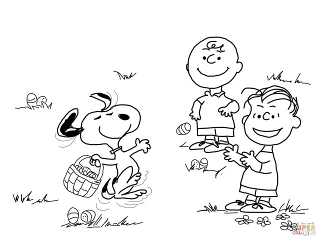 Charlie Brown Coloring Pages Charlie Brown Easter Coloring Page Free Printable Coloring Pages