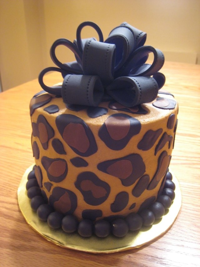 Cheetah Print Birthday Cakes Leopard Print Cake Beautiful Creative Cakes Pinterest Cake