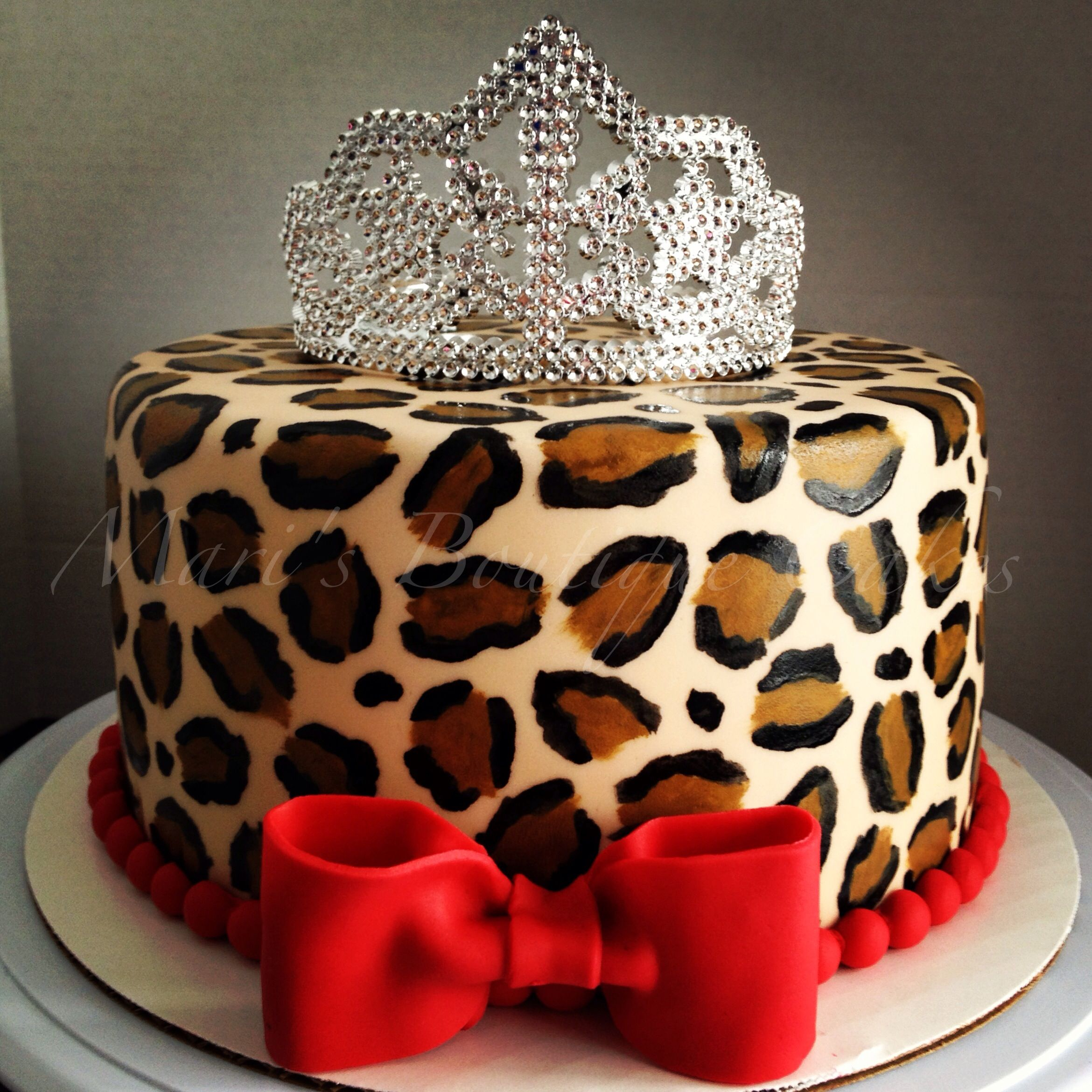 Cheetah Print Birthday Cakes Leopard Cake For A Little Diva Maris Boutique