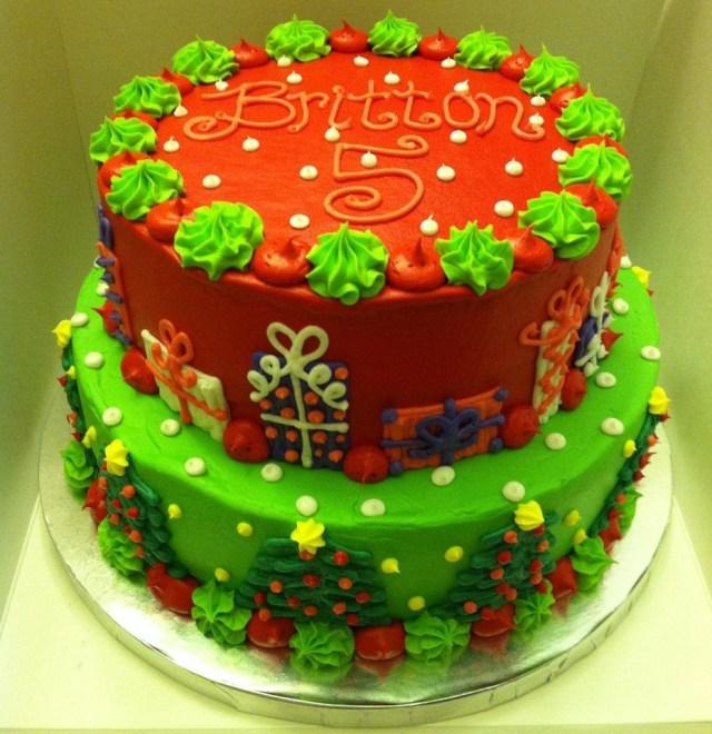 Christmas Birthday Cake Christmas Birthday Cake Cake Decorating Christmas Ideas