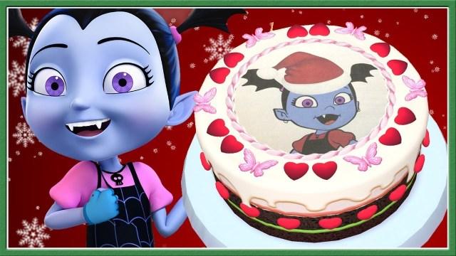 Christmas Birthday Cake Vampirina Christmas Birthday Cake Ba Learn Cooking Cake Kids