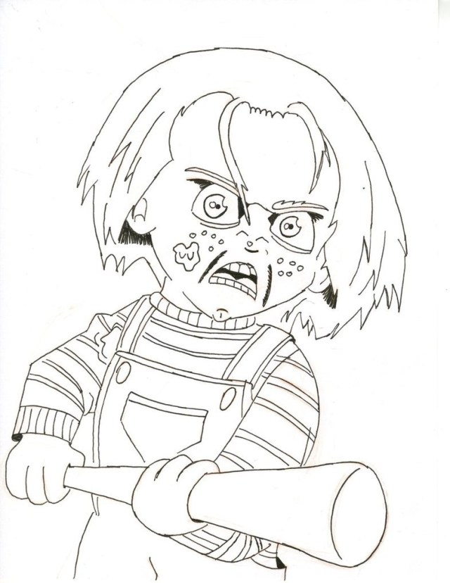 Chucky Coloring Pages Chucky Doll Coloring Pages Watsica