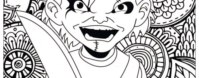 Chucky Coloring Pages Horror Chucky Halloween Adult Coloring Pages